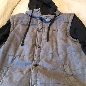 Men's zip-up, hooded sweatshirt, Matrix